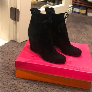 Kate Spade Suede Black Boots
